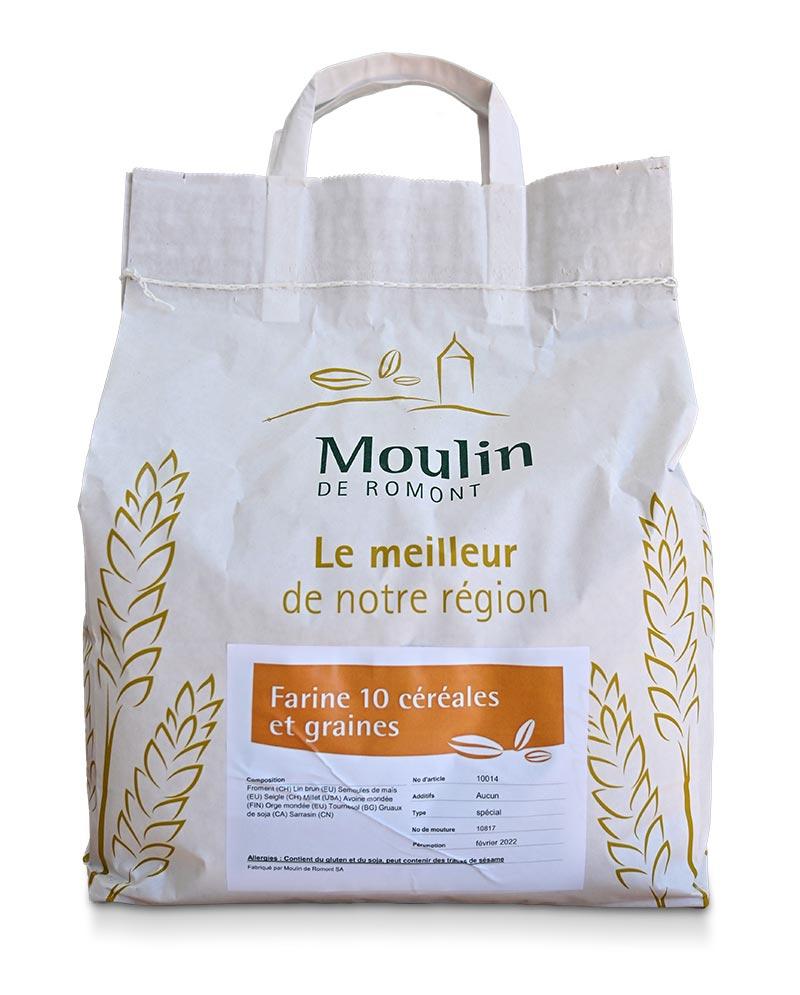 Farine 10 céréales - Produit régional de qualité supérieure