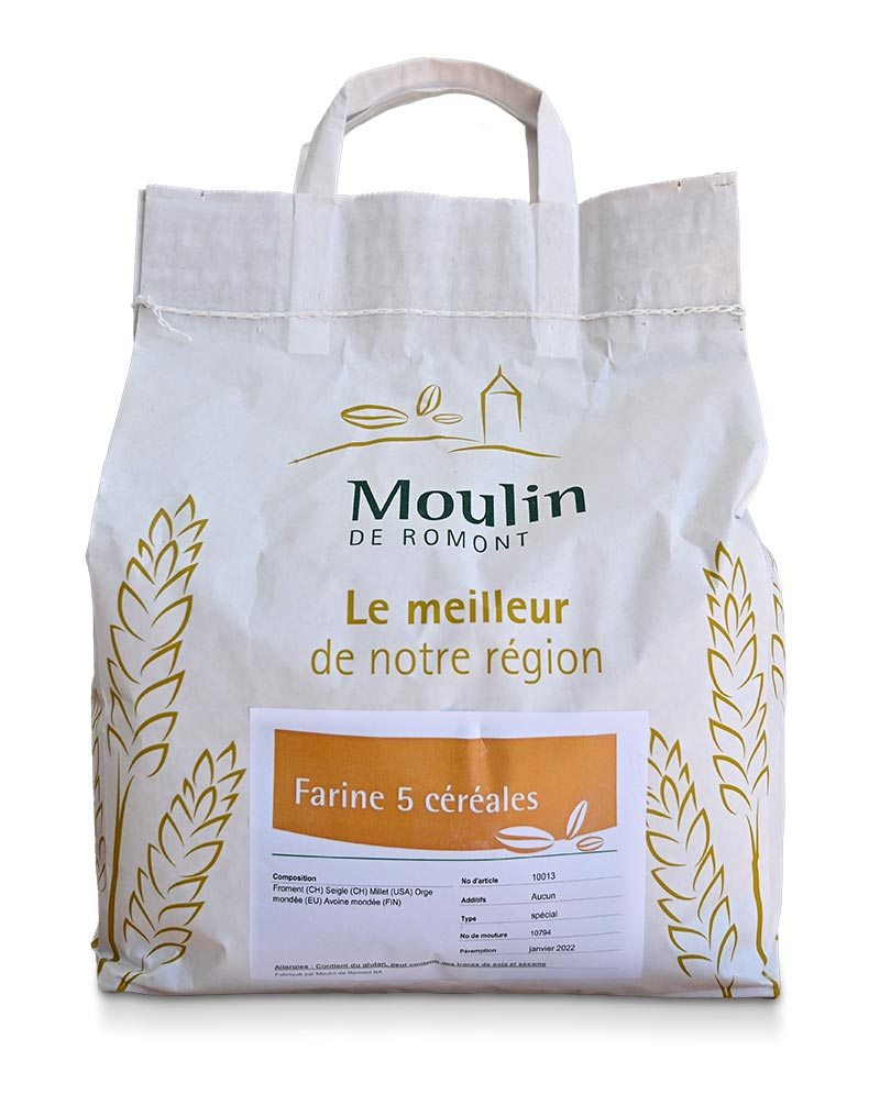 Farine 5 céréales - Produit régional de qualité supérieure