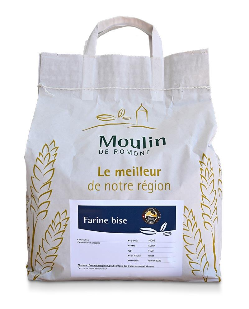 Farine bise - Produit régional de qualité supérieure