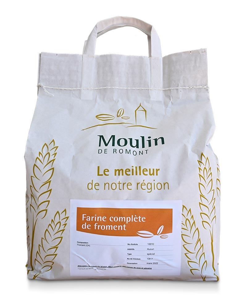 Farine compète de froment - Produit régional de qualité supérieure