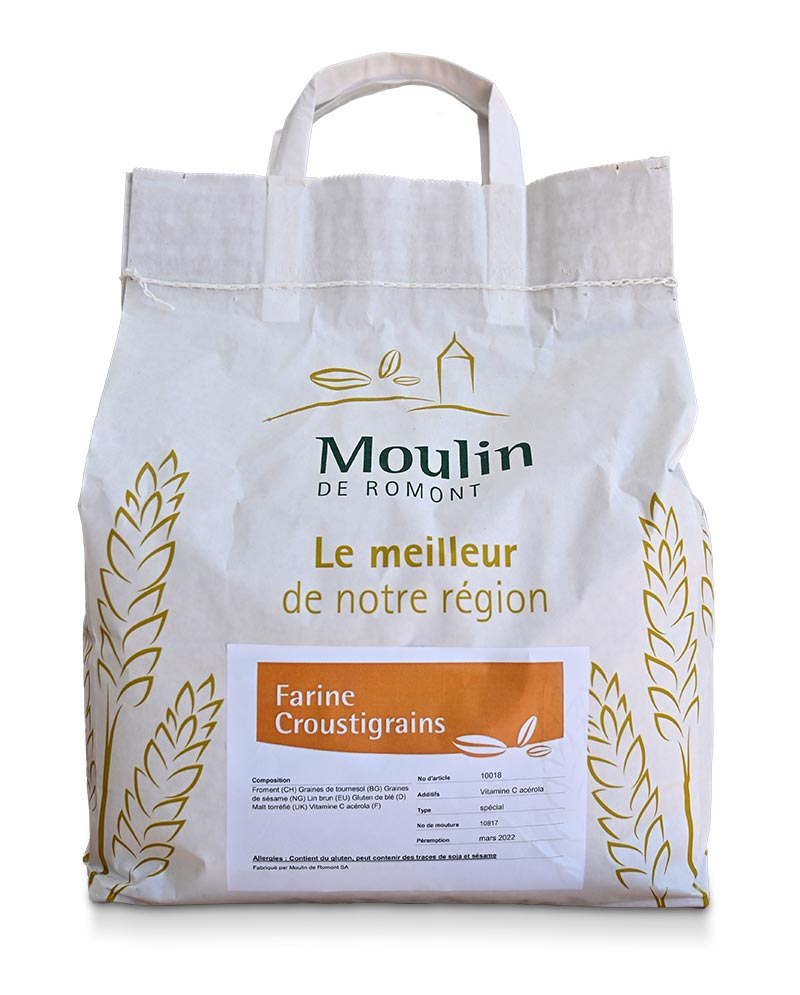 Farine Croustigrains - Produit régional de qualité supérieure