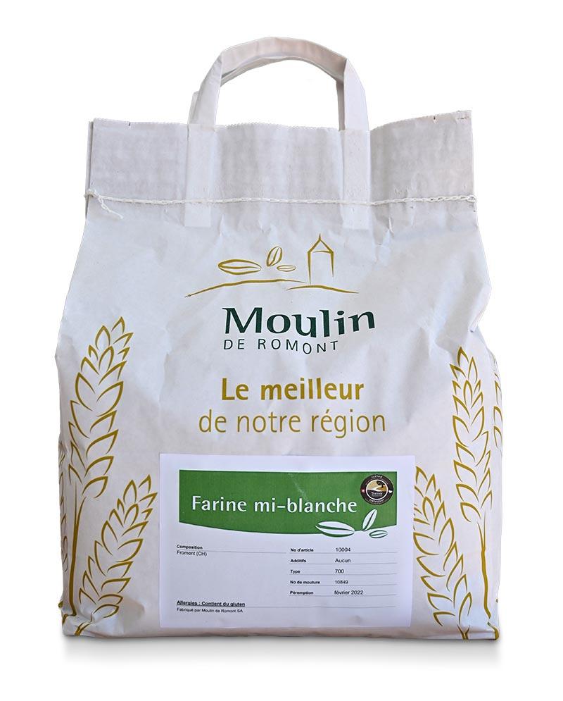 Farine mi-blanche - Produit régional de qualité supérieure