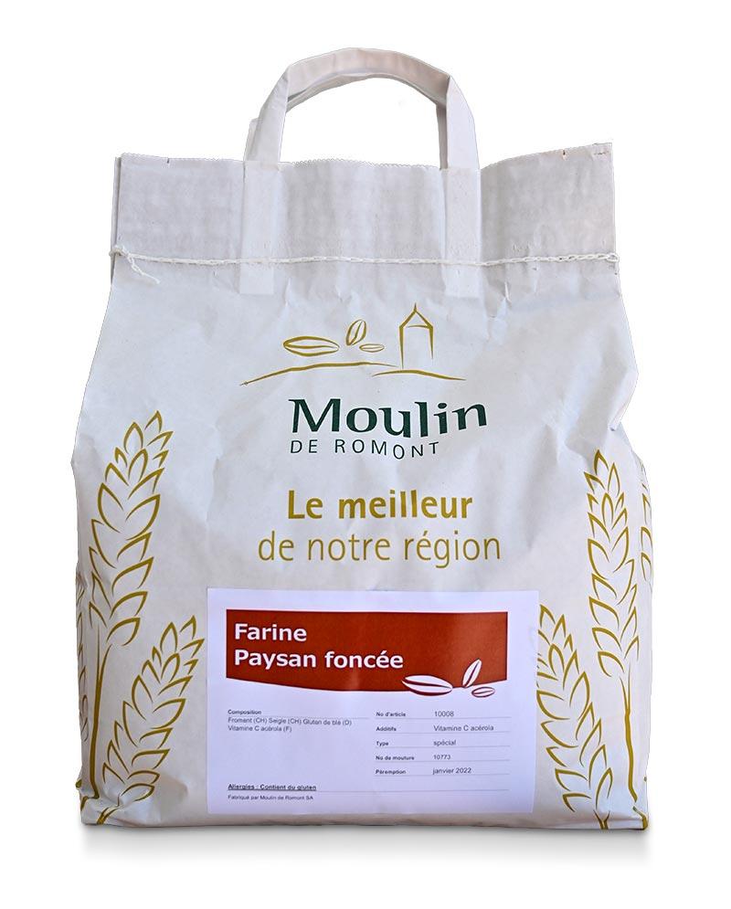 Farine paysan foncée - Produit régional de qualité supérieure