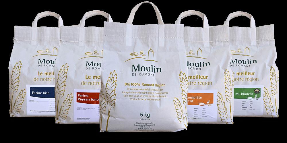 Choix de Farines pour Particuliers en sacs de 5kg